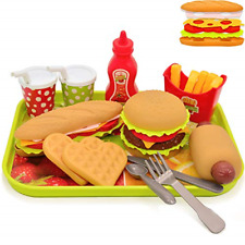 Pretend Play Food Set Removable Food Toys Burger Combo and Assortment NEW