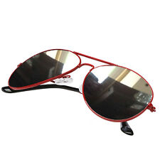 Red Fashion Unisex Donne Uomini AVIATOR FULL Occhiali da sole lente a specchio