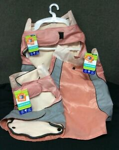 Top Paw 3 in 1 Dog Jacket~ Water Resistant/Reflective~ Pink & Gray~ NEW w/Tags!