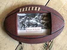 "NWT HEART & HOME FOOTBALL 9"" X 6"" Picture Frame FITS A 4 1/2"" X 3"" PICTURE"