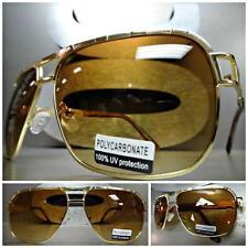 Mens Women CLASSIC VINTAGE RETRO Old School FASHION Style SUN GLASSES Gold Frame