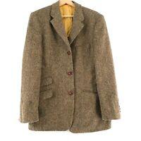Harris Tweed 100%Wolle Braune Jacke Blazer Größe US/UK 38 Eur