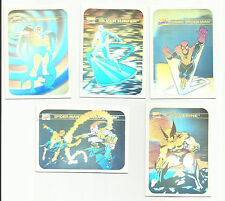 1990 Marvel Universe HOLOGRAM Insert Set of 5 Cards NM-M RARE