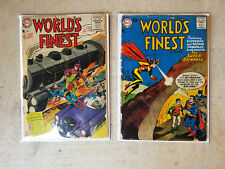 World's Finests Comics #80, 90  2 Book lot Superman and Batman  Reader Copies