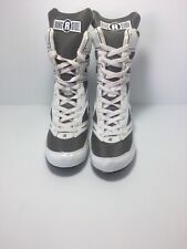 Ringside Undefeated White/black Boxing Shoes High Top Boots Youth Size-4 Us