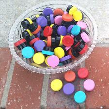100 1 tsp BLACK JARS OPAQUE Caps Container Lip Balm .25oz wax 3301 DecoJars USA