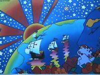 "Peter MAX 1992 ""Discovery 1492-1992"" Hanson Galleries Show Card 8.5 x 5.5 Print"