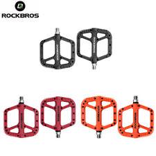 ROCKBROS MTB Mountain Bike Wide Nylon Bearing Pedals Bike Flat Platform 3 Colors