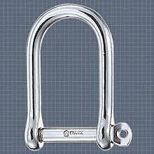 Wichard 1263 Standard self locking shackle large 6 mm grillo inox large
