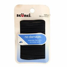Scunci 15975-A No Damage Elastic Ponytailers 34 Piece Black Small Pigtail Holder