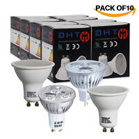 Pack of 10 LED Spot Bulbs 4W 6W GU10 MR16 GU5.3 Warm White Day White SMD Light