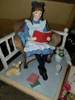 "American Girl Ceramic 7"" Bookend - SAMANTHA -Hallmark-w/Tags PRE-OWNED ~READ PLZ"