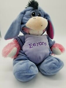 "Pink 15"" Build A Bear w/Magnetic Hands Plus Clothing Disney Eeyore Costume Rare"