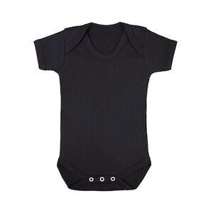Plain Baby Grow Blank Bodysuit Vest Short Sleeve BOYS GIRLS Christening Shower