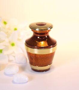 Mottled Copper Keepsake Cremation Urn