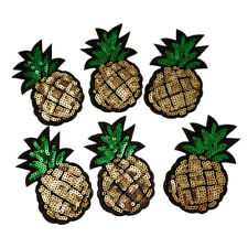 6pcs Pineapple Sequins DIY Sew Appliques Stickers Embroidery Patches Cloth
