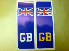 NUMBER PLATE GB Union Jack Car Van Stickers Decals 2 off 104mm
