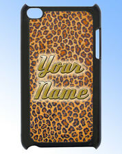 IPOD TOUCH 4 LEOPARD PRINT PERSONALISED  REAR COVER / CASE -GREAT GIFT & NAMED