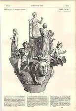 1862 GRECO pottery vase votive MARITTIMA Divinità OPERA D'ARTE
