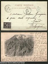 CARTE POSTALE - 1901 YT 103 -  BOURG D' OISANS / GAND belgique