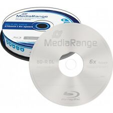 10 BD-R DL MEDIARANGE - DOBLE CAPA 50 GB - 6x - BLURAY