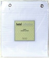 """1 Popular Bath Products Hotel Collection 70"""" X 72"""" White Fabric Shower Curtain"""