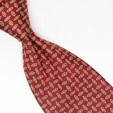 Zadi Andrews Ties Mens Silk Necktie Red Gold Diamondplate Pattern Weave Italy