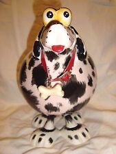 "Bobble Head Dog - Black & White Bobble Toy - 9"" - NEW"