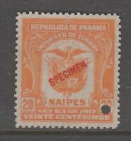 Panama Cinderella revenue fiscal Stamp 10-30- gum