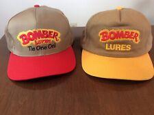 2 Vintage Bomber Lure Hats. New- Old Stock, Unused and Unworn!