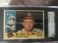 1960 Topps 515 Stan Lopata SGC 8 NM/MT