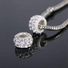 DIY Jewelry 20pcs Czech Crystal Rhinestones Spacer Bead fit bracele