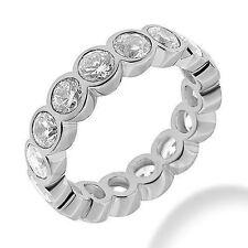 Gold Band 16 x 0.20 ct F-G Si1 3.20 ct Round Diamond Eternity Ring 14K White