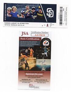 TAYLOR WARD Signed Autographed 8/14/18 MLB DEBUT Ticket Stub Angels Auto JSA COA