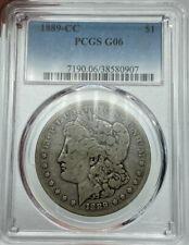 1889-CC PCGS G06 Morgan Silver Dollar Amazing Eye Appeal Key Date Coin