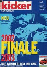 Magazin kicker Sonderheft - Bundesliga Finale Saison 2002/03-alle Klubs,Tore..