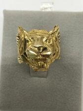 10k Yellow Gold Tiger Mens Ring