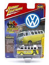 Johnny Lightning *RAT FINK* Yellow & White 1965 VW Type II Samba Bus *NIP*