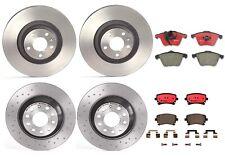 Front Rear Full Brembo Brake Kit Disc Rotors & Ceramic Pads For Audi A6 Quattro