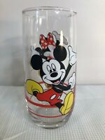 Disney Mickey Mouse Minnie Mouse 14 Oz Juice Glass VGUC Barware Collectible