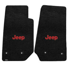 FOR Jeep WRANGLER UNLIMITED 2014-2016 Front Floor Mats BLACK RED JEEP LOGO 60006