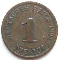 Superior! 1 Peniques 1891J En