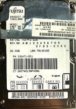 """Fujitsu 40GB 2,5"""" HDD"""