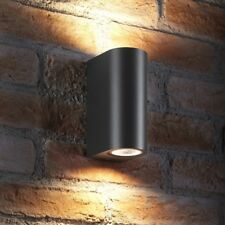 Auraglow IP44 10w Outdoor Double Up & Down Wall Light LED bulbs Included - GREY