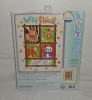 New Dimensions Crafts Wild Things Birth Record Counted Cross Stitch Kit #73250