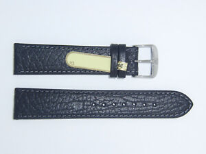"DI-Modell Genuine Calfskin Leather 20 mm BLACK Watch Band Strap ""TAIGA"""