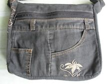 Gorgeous Handcrafted Ladies Washed Out Bling Dark Denim Jeans - Shoulder Bag