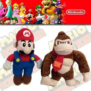 Donkey Kong & Super Mario Plush Nintendo 64 2004 Kellytoy  BD& A  Mario 64 DK