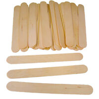 Natural JUMBO Wooden Lollipop Ice Lolly Pop Craft Sticks 150mm x 18mm Kids Craft