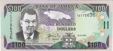 JAMAIQUE : 100 DOLLARS 2002 NEUF - P.80b